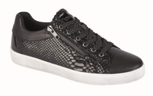 Cipriati Trainer – Black Metallic Reptile