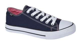 Navy Washed Canvas Shoe