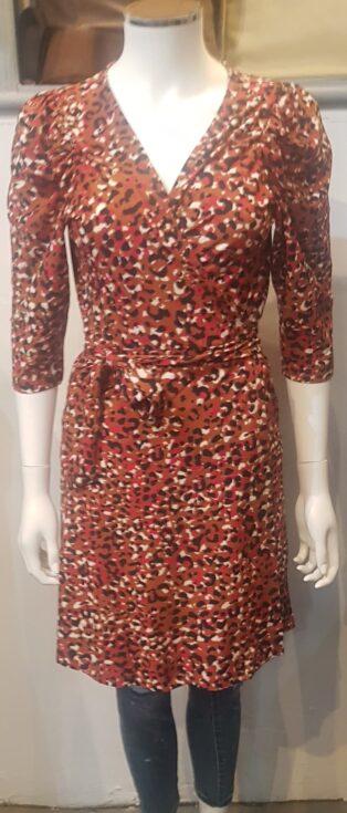 Vero Moda VMBRITT 3/4 SHORT WRAP DRESS JRS GA Auburn