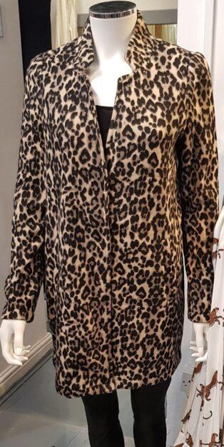 Vero Moda – Leopard Print Jacket – Sepia Tint