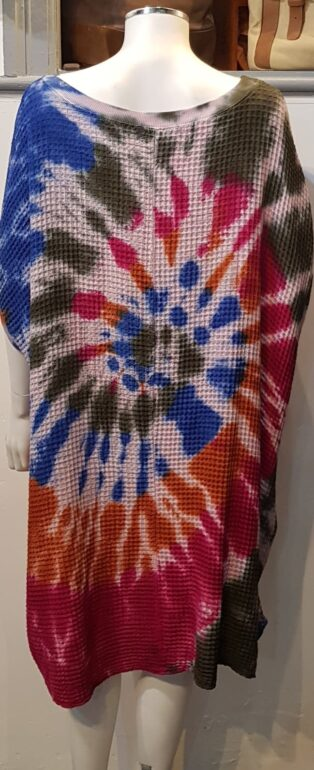 Made In Italy – Doris Oversized Tunic/Dress – Blue & Mix of Colours