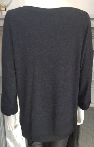 Pomodoro – Double Layered Tunic – Charcoal
