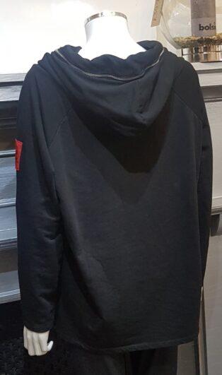 Studio – Emma Cowl Neck Sweatshirt – Black