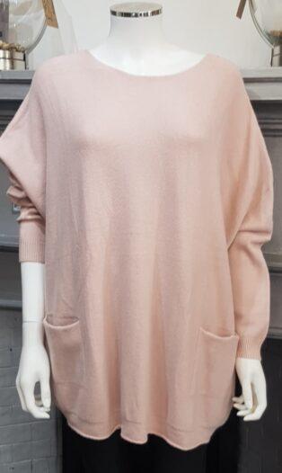 Diverse – Etna Double Pocket Jumper – Pink