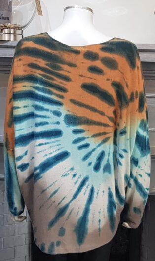 Diverse -Evelyn Tie Dye Jumper – Jade & Multi Colours