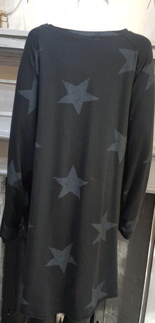 Studio – Esther Star Top with Zips -Black