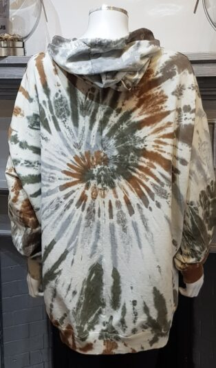 Diverse – Estelle Tie Dye Hooded Sweat – Camouflage