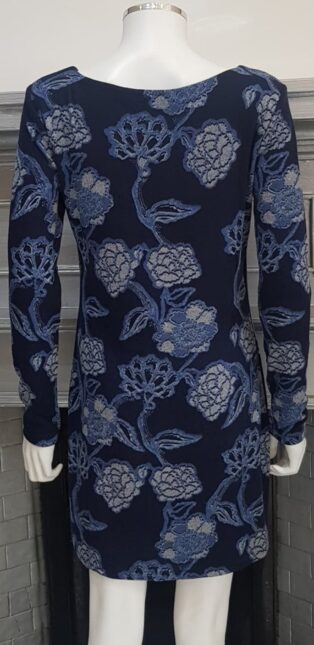 Lily & Me – Angela Tunic/Dress Kimono Print – Navy.