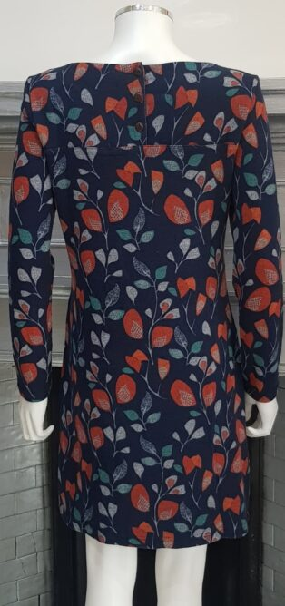 Lily & Me – Winterbourne Tunic Flower Trail Print – Navy