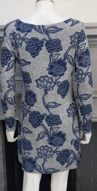 Lily & Me – Angela Tunic/Dress Kimono Print – Grey