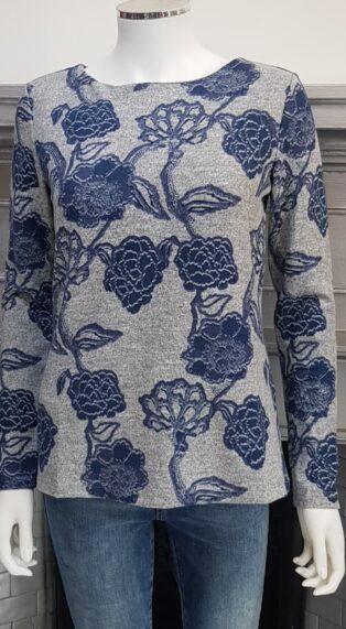 Lily & Me – Angela Top Kimono Print – Grey