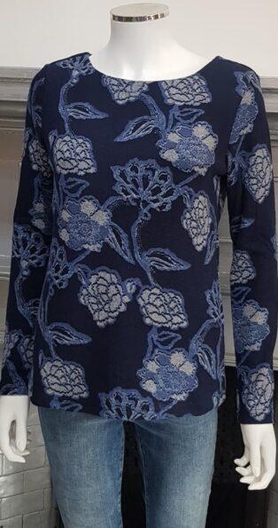 Lily & Me – Angela Top Kimono Print – Navy