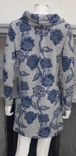 Lily & Me – Winkleigh Dress/Tunic Kimono Print – Grey