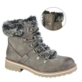 Cipriata – Mariella Faux Fur Ankle Boot – Grey