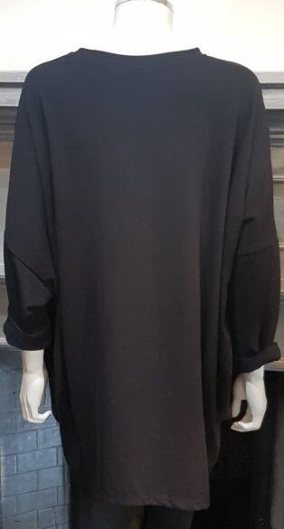 Studio – Fran Oversized Sweatshirt – Black (Copy)