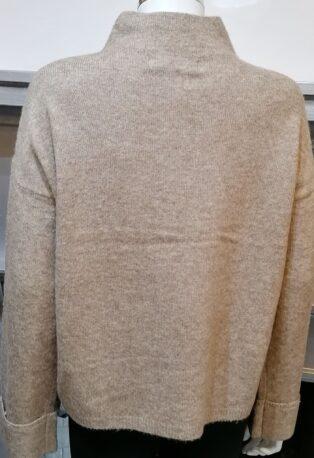 Vero Moda Plaza High neck Jumper – Sepia Tint Melange