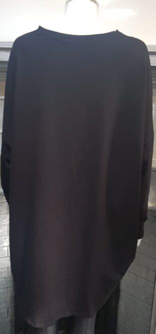 Studio – Freya Oversized Sweatshirt – Black