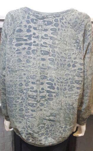 Diverse – Dora Leopard Print Top – Khaki