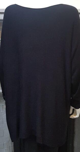 Diverse – Ffion 'A' Line Knit Tunic – Black