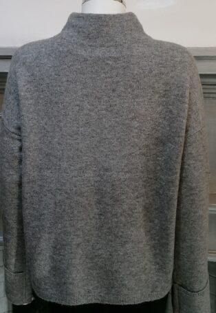 Vero Moda Plaza High Neck Jumper – Medium Grey Melange