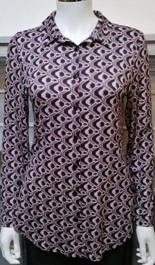 Pomodoro – Geometric Shirt – Magenta
