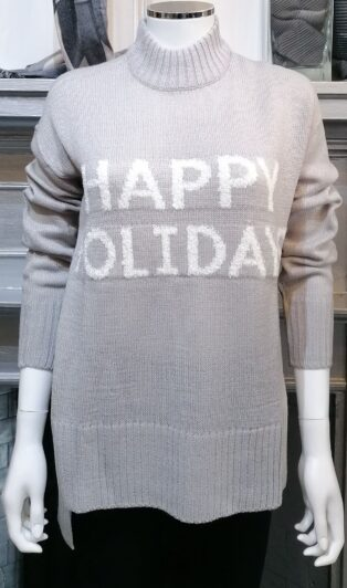 Vero Moda –  Holidays – Jumper – Light Grey