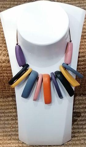 colouredwood necklace