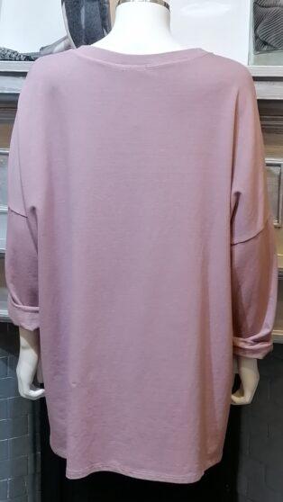 Diverse – Gerty Sweatshirt/Tunic – Dusky Pink