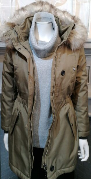 Only – Iris Parka Jacket – Khaki