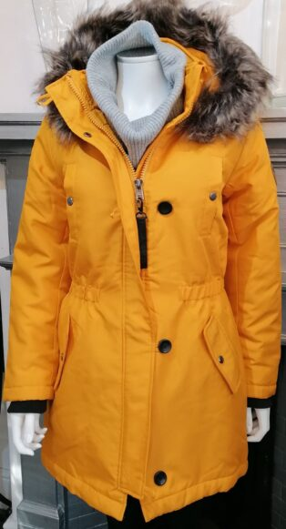 Only – Iris Parka Jacket – Golden Yellow