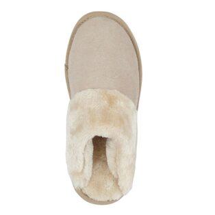 Cipriata – Kelsei Suede & Faux Fur Mule Slipper – Stone