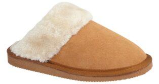 Cipriata – Kelsei Suede & Faux Fur Mule Slipper –  Sand