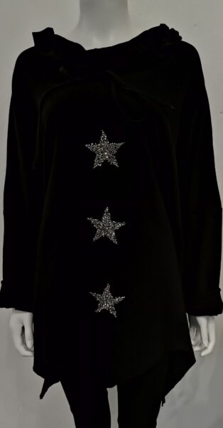 Sarah Tempest. – Crystal Star Tunic – Black