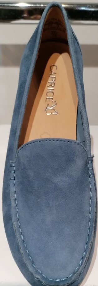 Caprice – Loafer/Deck Shoes – Blue Suede
