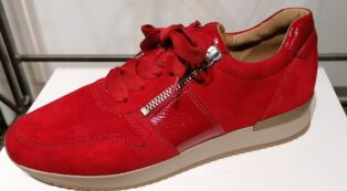 Gabor – Seude & Leather Trainer – Rubin Red