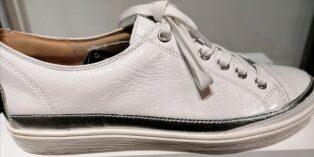 Caprice – Naplak Trainers – White & Silver