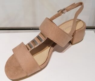 Marco Tozzi – Double Strap Sandal – Nude