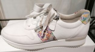 Gabor – Las Vegas Trainers – White with Python