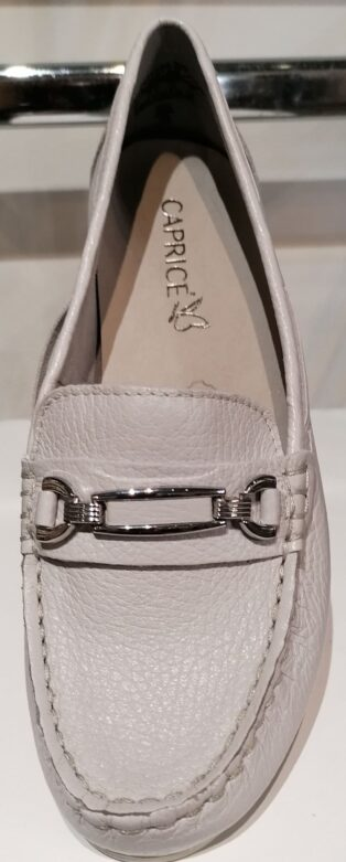 Caprice – Leather Loafers/Deck Shoe – Light Grey