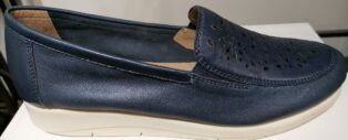 Caprice – Perlato Loafers – Navy Blue