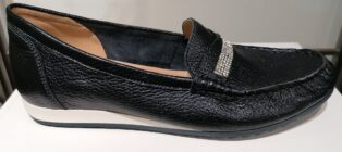 Caprice – Loafers with Diamante Trim – Black