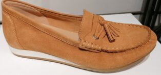 Caprice – Leather Moccasin Shoes – Tan Suede