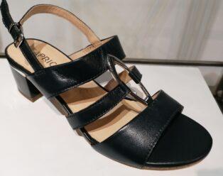 Caprice – Ocean Nappa Block Heel Sandal – Navy