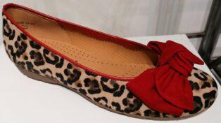 Gabor – Animal Print Ballet Shoe – Natur/Rubin