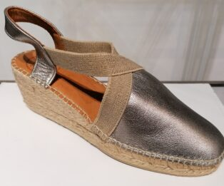 Toni Pons Origens –  Tossa Wedge Espadrille – Gold and Natural