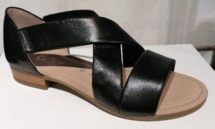 Gabor – Vacchetta Soft Leather Sandal – Black