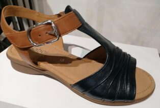 Gabor  – Glove Vacchetta Sandal – Midnight/Camel