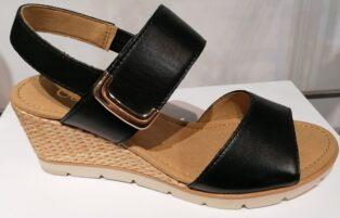 Gabor – Foulardcalf Wedge Leather Sandal – Black – (Duplicate Imported from WooCommerce)
