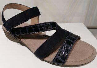 Gabor – Mississippi Suede & Patent Sandal – Navy Blue