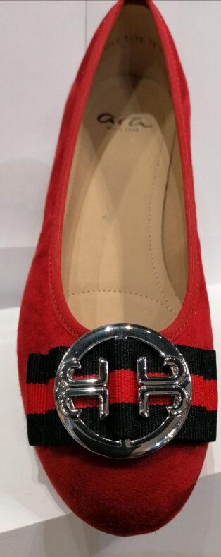 Ara – Scala Ballet Pump – Red